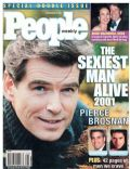 Pierce Brosnan on the cover of People (United States) - November 2001