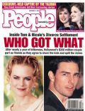 Nicole Kidman, Nicole Kidman and Tom Cruise, Tom Cruise on the cover of People (United States) - December 2001