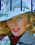 Aurore Clément on the cover of Elle (France) - September 1972
