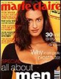 Marc Hispard, Yasmeen Ghauri on the cover of Marie Claire (Australia) - May 1996