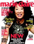 Sandra Oh on the cover of Marie Claire (United States) - April 2007