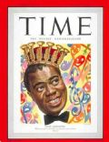Louis Armstrong on the cover of Time (United States) - February 1949