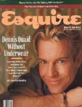 Dennis Quaid on the cover of Esquire (United States) - March 1989