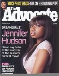 Jennifer Hudson on the cover of The Advocate (United States) - December 2006