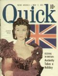 Vivien Leigh on the cover of Quick (United States) - May 1951