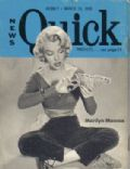 Marilyn Monroe on the cover of Quick (United States) - March 1955