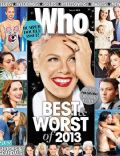 Pink on the cover of Who (Australia) - January 2014