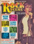 Peter Gabriel on the cover of Rock Scene (United States) - May 1975