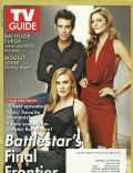 James Callis, Katee Sackhoff, Tricia Helfer on the cover of TV Guide (United States) - March 2009