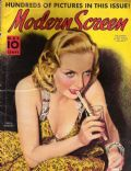 Carole Lombard on the cover of Modern Screen (United States) - May 1938