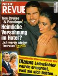 Penélope Cruz, Penelope Cruz and Tom Cruise, Tom Cruise on the cover of Neue Revue (Hungary) - September 2004