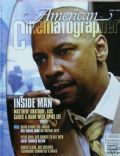 Denzel Washington on the cover of American Cinematographer (United States) - April 2006