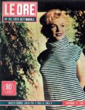 Marilyn Monroe on the cover of Le Ore (Italy) - November 1955
