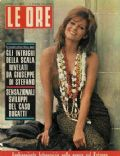 Claudia Cardinale on the cover of Le Ore (Italy) - December 1961