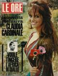 Claudia Cardinale on the cover of Le Ore (Italy) - April 1965