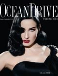 Dita Von Teese on the cover of Ocean Drive (Puerto Rico) - August 2010