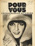 Louise Brooks on the cover of Pour Vous (France) - May 1929