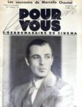 Gary Cooper on the cover of Pour Vous (France) - May 1932