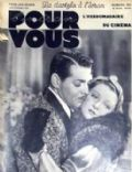 Clark Gable on the cover of Pour Vous (France) - November 1934