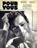 Robert Taylor on the cover of Pour Vous (France) - April 1937