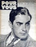 Tyrone Power on the cover of Pour Vous (France) - July 1939