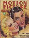 Sonja Henie, Sonja Henie and Tyrone Power, Tyrone Power on the cover of Motion Picture (United States) - October 1937