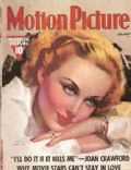Carole Lombard, Tyrone Power on the cover of Motion Picture (United States) - January 1938