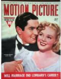 Alice Faye, Tyrone Power, Tyrone Power and Alice Faye on the cover of Motion Picture (United States) - July 1939