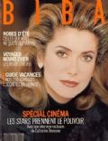 Catherine Deneuve on the cover of Biba (France) - January 1991