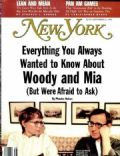 Mia Farrow, Mia Farrow and Woody Allen, Woody Allen on the cover of New York (United States) - September 1992
