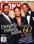 Denzel Washington, Jamie Foxx on the cover of Ebony (United States) - November 2005