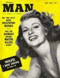 Rita Hayworth on the cover of Modern Man (United States) - July 1955