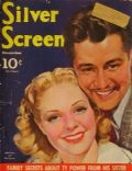 Alice Faye, Don Ameche on the cover of Silver Screen (United States) - November 1939