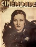 Marlene Dietrich on the cover of Cinemonde (France) - April 1932