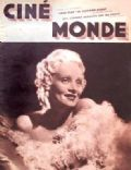 Marlene Dietrich on the cover of Cinemonde (France) - September 1934