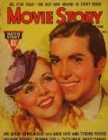 Alice Faye, Tyrone Power, Tyrone Power and Alice Faye on the cover of Movie Story (United States) - November 1937