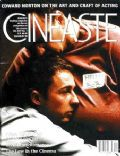 Edward Norton on the cover of Cineaste (United States) - October 1998