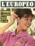Claudia Cardinale on the cover of L Europeo (Italy) - June 1962