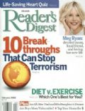 Meg Ryan on the cover of Readers Digest (United States) - February 2002