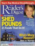 Renée Zellweger on the cover of Readers Digest (United States) - January 2004