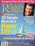 Mel Gibson on the cover of Readers Digest (United States) - March 2004