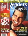 Tom Cruise on the cover of Readers Digest (United States) - June 2005