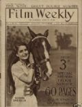 Norma Shearer on the cover of Film Weekly (United Kingdom) - November 1929
