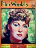 Greta Garbo on the cover of Film Weekly (United Kingdom) - December 1937