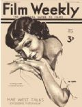 Claudette Colbert on the cover of Film Weekly (United States) - September 1934