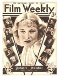 Ginger Rogers on the cover of Film Weekly (United States) - May 1935