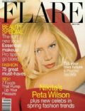 Peta Wilson on the cover of Flare (Canada) - March 1999