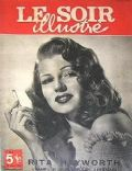 Rita Hayworth on the cover of Le Soir Illustre (Belgium) - November 1946