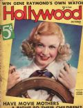 Ginger Rogers on the cover of Hollywood (United States) - October 1936