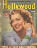 Jeanette MacDonald on the cover of Hollywood (United States) - September 1940